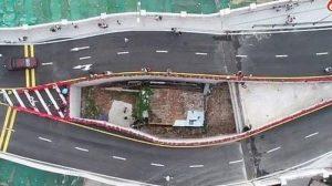 Viral Rumah Diapit Jalan Layang di China, Berikut Keterangan Sang Pemilik Bangunan